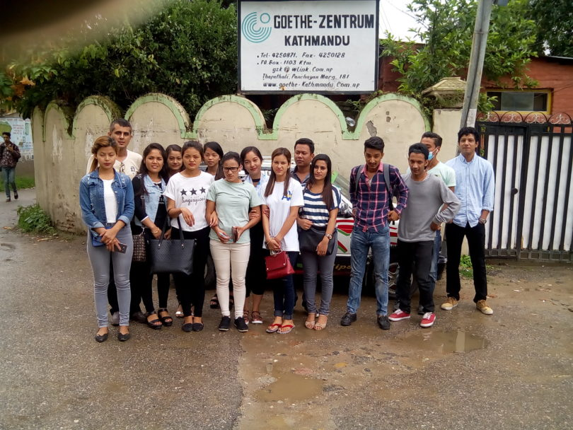 Our Students in Goethe Zentrum